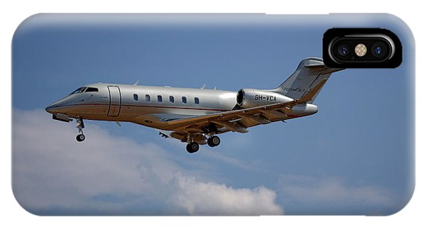 Jet iPhone Case - Vista Jet Bombardier Challenger 300 4 by Smart Aviation