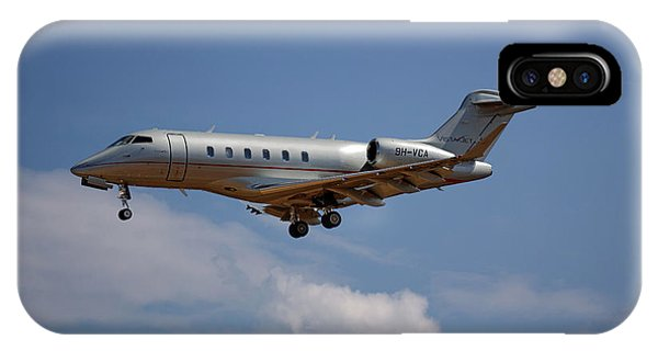 Jet iPhone X / XS Case - Vista Jet Bombardier Challenger 300 4 by Smart Aviation