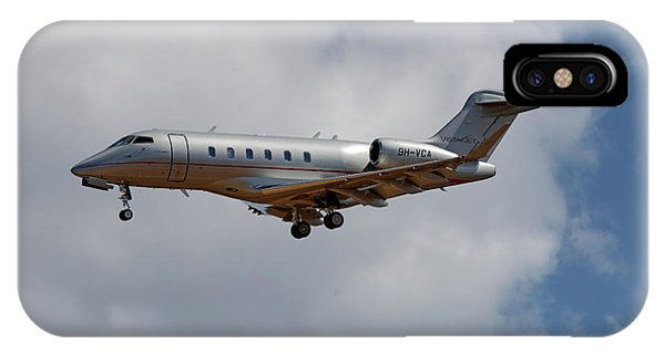 Jet iPhone Case - Vista Jet Bombardier Challenger 300 5 by Smart Aviation