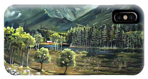 Vista View Of Cannon Mountain IPhone Case