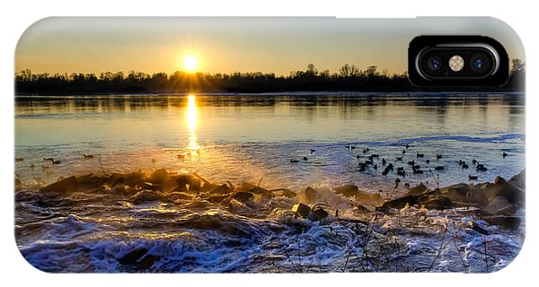 Vistula River Sunset 3 IPhone Case