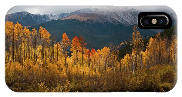 Vivid Autumn Aspen And Mountain Landscape IPhone Case
