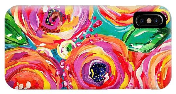 Bright iPhone Case - Vivid Flora by DAKRI Sinclair