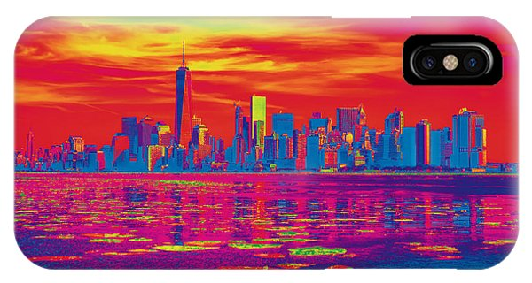 Vivid Skyline Of New York City, United States IPhone Case