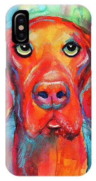 iPhone Case - Vizsla Dog Portrait by Svetlana Novikova