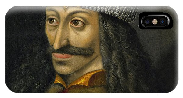 Dracula iPhone Case - Vlad The Impaler Portrait  by War Is Hell Store