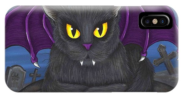 Vlad Vampire Cat IPhone Case