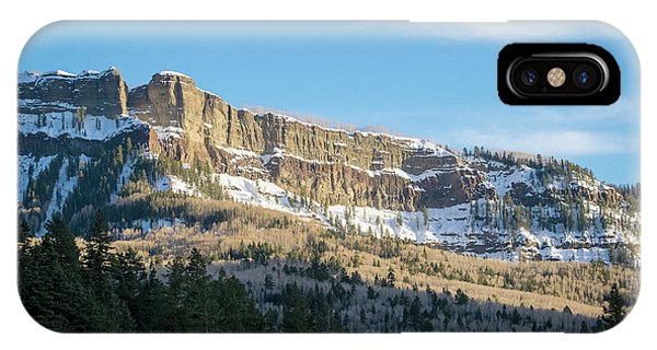IPhone Case featuring the photograph Volcanic Cliffs Of Wolf Creek Pass by Jason Coward