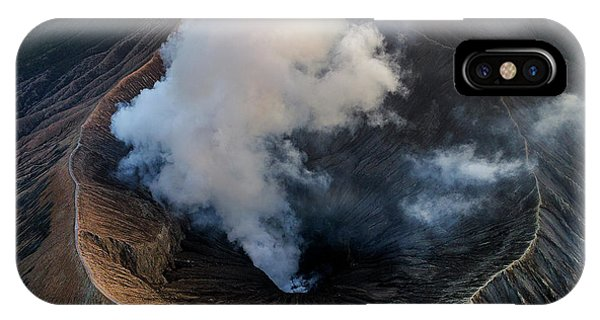 Volcanic Crater From Above IPhone Case