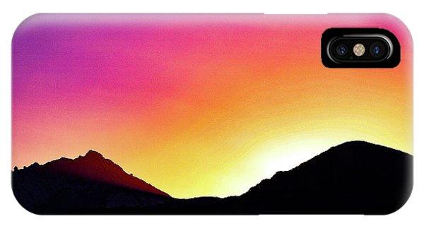 Volcanic Sunrise IPhone Case