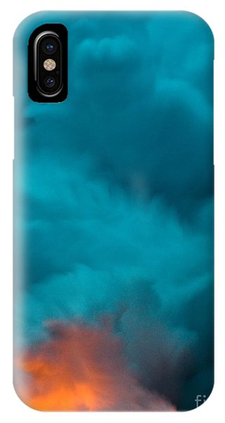 Volcano Smoke And Fire IPhone Case