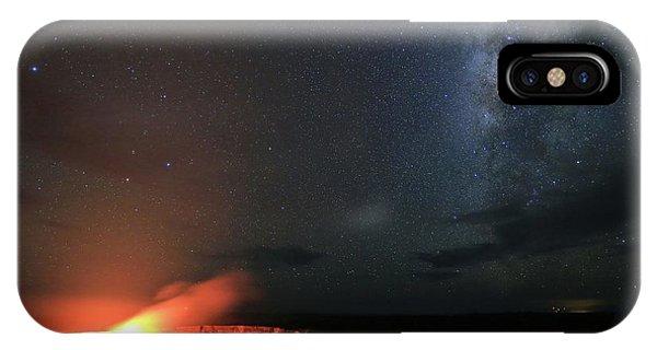 Volcano Under The Milky Way IPhone Case