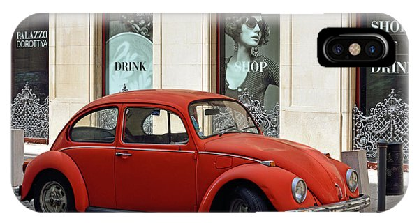 iPhone Case - Volkswagen Beetle In Budapest by Kathy Yates