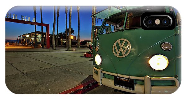 Volkswagen Bus At The Imperial Beach Pier IPhone Case