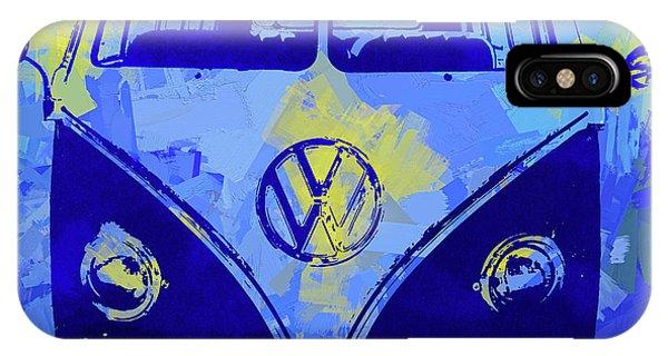 Volkswagen Bus Pop Blue IPhone Case