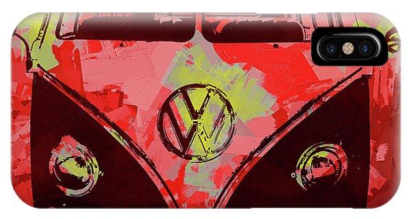Volkswagen Bus Pop Red IPhone Case