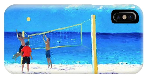 Volleyball Beach Painting IPhone Case