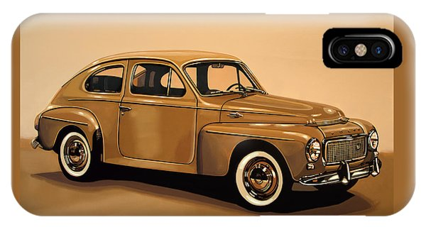 Estate iPhone Case - Volvo Pv 544 1958 Painting by Paul Meijering