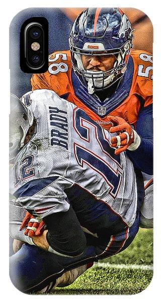Von Miller Denver Broncos Art IPhone Case
