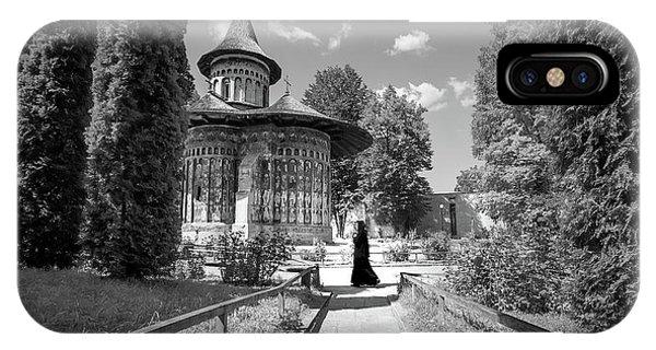 Voronet Monastery - Romania - Black And White Photography Phone Case by Giuseppe Milo