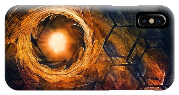 Fractal iPhone X Case - Vortex Of Fire by Scott Norris