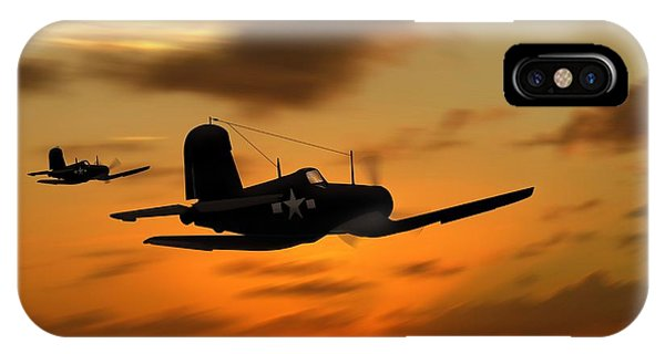 Vought Corsairs At Sunset IPhone Case