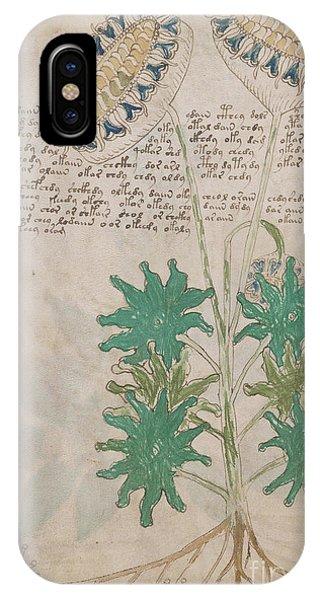 Voynich Flora 04 IPhone Case