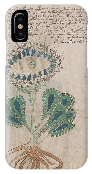 Voynich Flora 11 IPhone Case