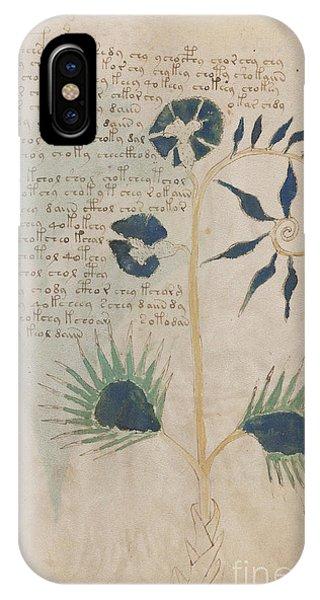 Voynich Flora 12 IPhone Case
