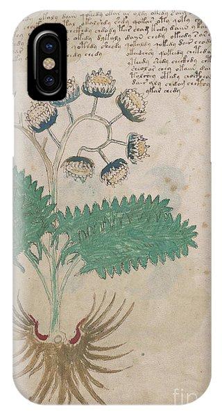 Voynich Flora 14 IPhone Case