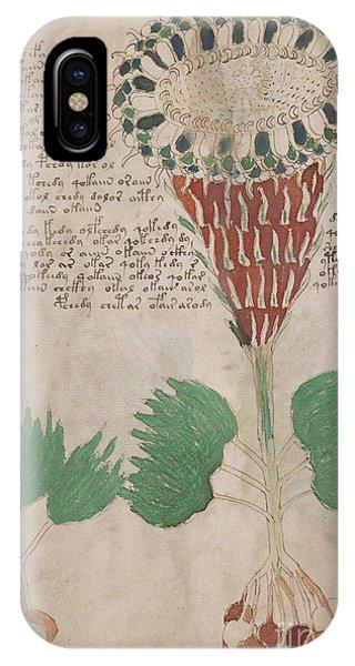 Voynich Flora 15 IPhone Case