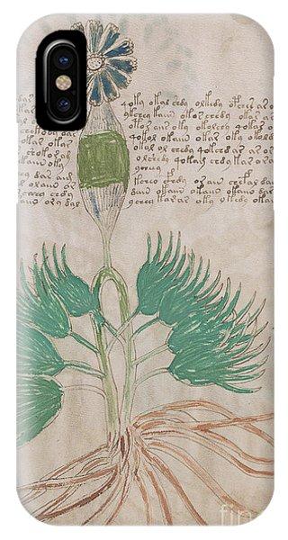 Voynich Flora 16 IPhone Case