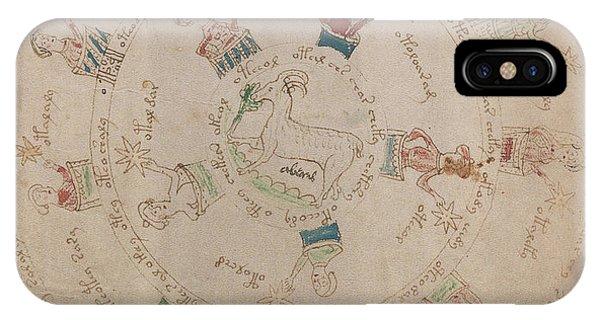 Voynich Manuscript Astro Aries IPhone Case