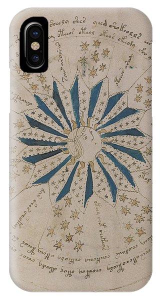 Voynich Manuscript Astro Rosette 1 IPhone Case