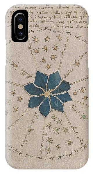Voynich Manuscript Astro Rosette 2 IPhone Case