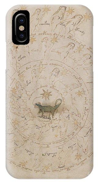 Voynich Manuscript Astro Scorpio IPhone Case