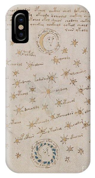 Voynich Manuscript Astro Sun And Moon 1 IPhone Case