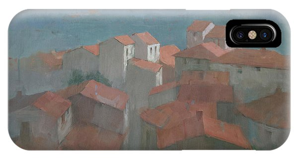 IPhone Case featuring the painting Vrsar, Croatia by Steve Mitchell