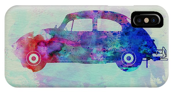 Beetle iPhone Case - Vw Beetle Watercolor 1 by Naxart Studio