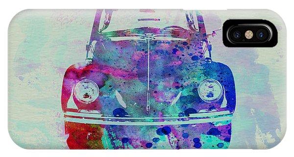 Beetle iPhone Case - Vw Beetle Watercolor 2 by Naxart Studio