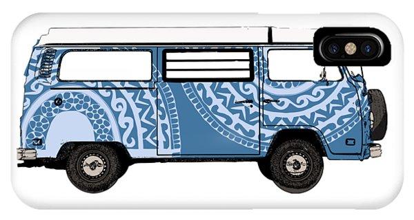 Vw Blue Van IPhone Case
