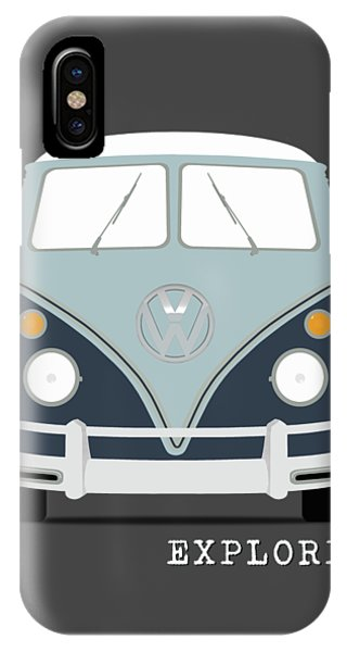 Volkswagen iPhone Case - Vw Bus Blue by Mark Rogan