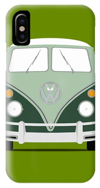 Volkswagen iPhone Case - Vw Bus Green by Mark Rogan