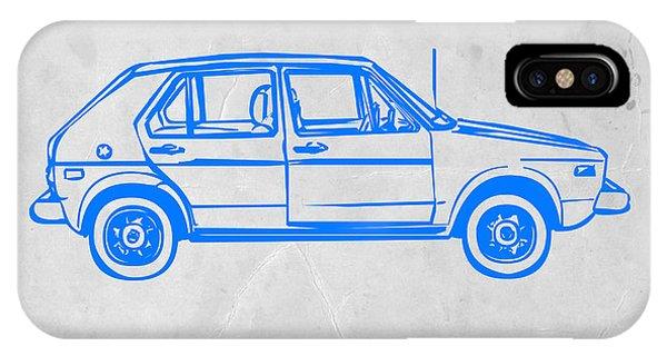 Beetle iPhone Case - Vw Golf by Naxart Studio