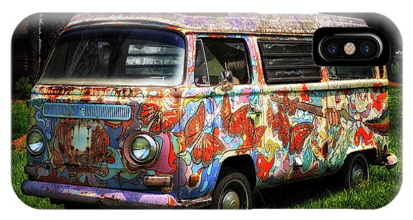 Vw Psychedelic Microbus IPhone Case