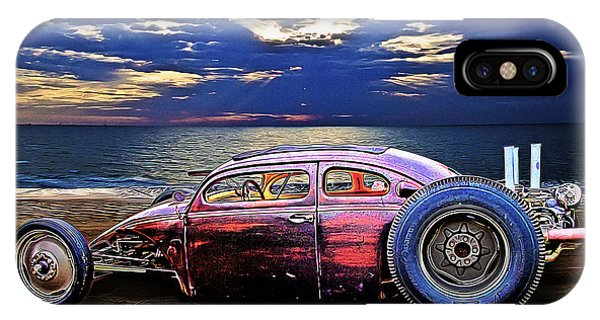 Rat Rod Surf Monster At The Shore IPhone Case