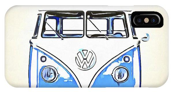 Sleeper iPhone Case - Retrol Van Pop Artwork Blue by Edward Fielding