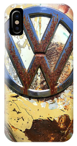 Vw Volkswagen Emblem With Rust IPhone Case