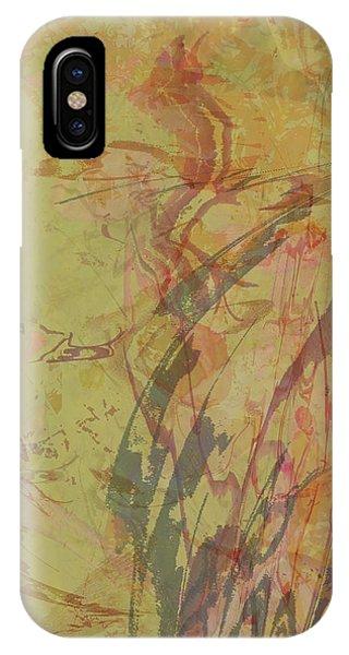Wabi Sabi Ikebana Rose On Yellow Green IPhone Case