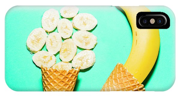 Tasty iPhone Case - Waffle Cones With Fresh Banana by Jorgo Photography - Wall Art Gallery